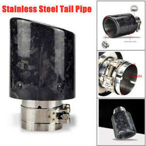 1PCS Car Stainless Steel Tail Pipe 89MM Outlet Car Exhaust Muffler Tailpipe Tip
