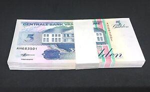 SURINAME 5 Gulden X 100 PCS 1998 P-136 Full Bundle UNC Uncirculated
