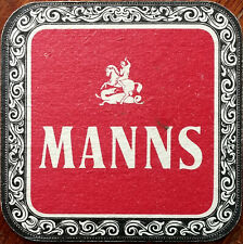 Manns With The Beautiful Brown Body Vintage Beer Mat