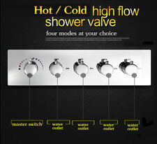4-way Hot Cold Water Flush Mount Mixer Valve Shower Faucet Shower Faucet
