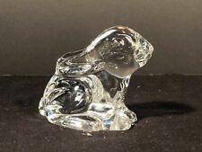 Waterford Crystal Bunny Vintage Rabbit Figurine Paperweight Display