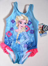 NWT Disney Frozen ELSA BLUE 1 Piece Swimsuit Size 2T