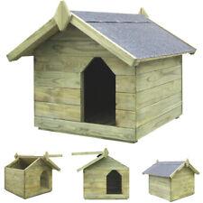 Hundehütte XXL Massivholz 4 Größen Dachluke Hundehaus Hunde Haus Hütt Holz