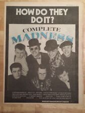 Madness Complete 1982 press advert Full page 33 x 43 cm mini poster