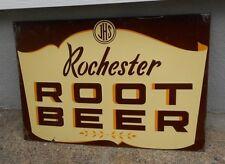 """ROCHESTER ROOT BEER EMBOSSED METAL 30"""" SIGN ROOT BEER"""