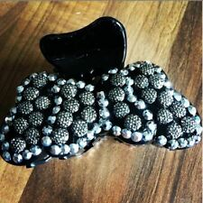 Diamante Hair Clip black Claw bow butterfly Hair accessory