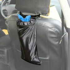Car Seat Back Litter Trash Garbage Hang Bag Holder Container Storage Bin Black