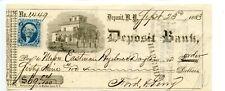 1863.    Deposit,  New York.   Revenue Bank Check.