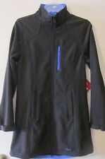 Fila Women's Venture Long Bonded Jacket Black/Dazzling Blue Sz S NWT $100