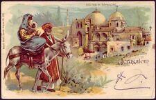 Switzerland 1901 Postcard Showing Jerusalem Israel / Ottoman Palestine  Zurich