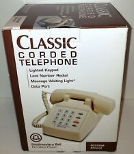 Vintage Southwestern Bell Freedom Phone FC250M ALMOND Classic Corded Telephone