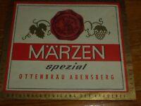DE .ch. Deutschland OTTEN Brauerei   ABENSBERG Bier Etikette