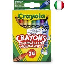 Crayola-24 Pastelli a Cera, Assortiti, per Scuola e Tempo A (A, 1 - confezione)