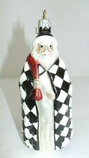 Patricia Breen Ornament #9737 St. Louis Santa Black & White Checkered Coat, 1997
