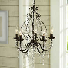 Modern Crystal Chandelier Pendant Lamp Ceiling Light Fixture 5 Lights Lighting