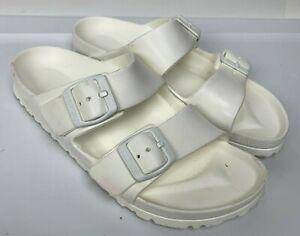 BIRKENSTOCK Arizona Eva White Rubber Slides Women's Sandals Sz 5/36 EU