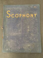 Vtg Scophony TV Television Projected System Catalog Brochure Early TV History