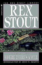 Where There's a Will by Rex Stout (Paperback, 1995)