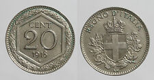 pci0103) Regno Vittorio Emanuele III cent 20 esagono 1918 Rig