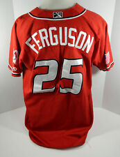 2017 Albuquerque Isotopes Collin Ferguson #25 Game Used Red Jersey