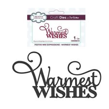Warmest Wishes Words Metal Die Cut Christmas Creative Expressions cutting dies