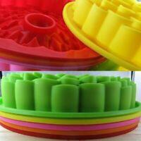 "Sunflower 9"" Cake Mold Silicone Fondant Mat Baking Pan Mould DIY Tool Green USA"