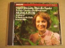 CD PHILIPS/ VIVALDI-TELEMANN-MARCELLO-NAUDOT - RECORDER CONCERTOS/ MICHALA PETRI