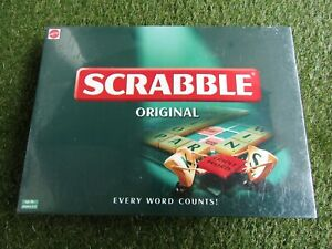 Mattel Scrabble Original - Brand New and Sealed - 1999 - 2 to 4 Players