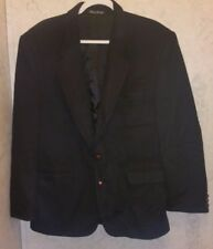 TAILORS ROW BY DEANSGATE 40R Men Black 100% CAMEL HAIR Blazer Sports Coat Italy
