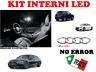 KIT FULL LED INTERNI PER AUDI A6 C7 KIT COMPLETO 100% NO ERRORE 6000K CANBUS