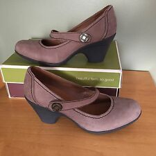 Naturalizer Jansen Taupe Leather Women's Shoe Size 8 1/2