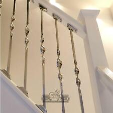 """""""Alessi"""" Single Bold Twist Stainless Steel Stair Spindle"""