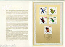 ALLEMAGNE FEDERALE, RFA, 1993, INSECTES, 5 timbres 1497/1501 DOCUMENT 1° JOUR