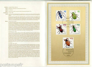 Germany Federal, Rfa , 1993, Insect, 5 Stamps 1497/1501 Document 1° Day