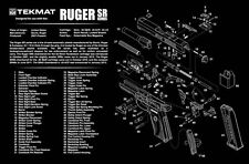 Ruger SR9 SR-9  Armorers Gun Cleaning Bench Mat Exploded View Schematic NEW !