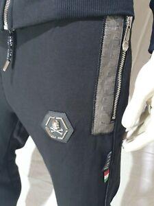 qp Philipp Plein 🆕️ Trainingsanzug 🐍 Leder Jogginganzug Gr. XL