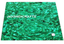 """30""""x30"""" Square Marble Coffee Dining Table Top Malachite Inlay Thanksgiving Gift"""