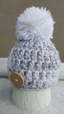 Hand Crochet/Recién nacidos bebé niño Pom Pom Knit Beanie Hat, Regalo, foto Prop