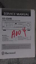 sherwood ai-1210r service manual repair book schematic stereo amp amplifier