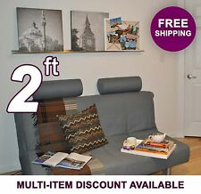 2ft x 3.5in ultraLEDGE Stainless Steel Floating Shelf Picture Ledge Art Display