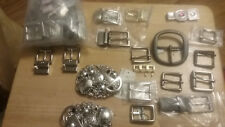 30+ Belt Buckle Lot Leathercraft DIY Mixed,Reversible,Roller,ISAAC MIZRAHI,Strap