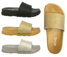 128043204 WHOLESALE LOT 18 pairs Glitter Slide Sandals Platform Footbed Casual  Shoe--1919