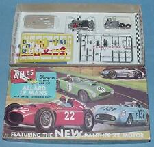 Atlas Ho Slot Car Racing Nos Allard Lemans Kit #1350 Tan Body Lemon Yellow Parts