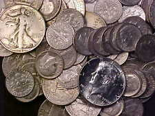90% Silver - 1/2 Ounce USA Coins Lot of Dimes, Quarters and Half Dollars