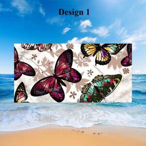 Butterfly Rose Flower Adult Kids Bath Pool Swim Spa Beach Towel Holiday Gift