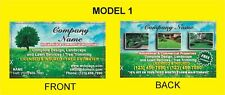 1000 BUSINESS CARDS - LANDSCAPING SERVICE-2 Sided-Glossy or Matte-FREE DESIGN