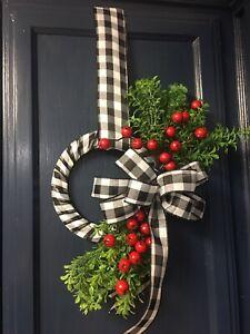 Winter/Valentines cabinet Wreath, Pantry Wreath, Kitchen Wreath, Window Wreath