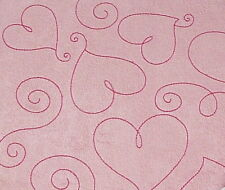 "Pink Suede Heart 12""X12"" Post Bound Scrapbook Album - Crafty Koala"
