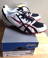 ASICS HYPER MD GY705 MEN'S RUNNING SPIKES SHOES, US 8.5 BLACK ONYX RED, NEW NWOB