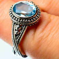 Blue Topaz 925 Sterling Silver Ring Size 6.5 Ana Co Jewelry R25327F